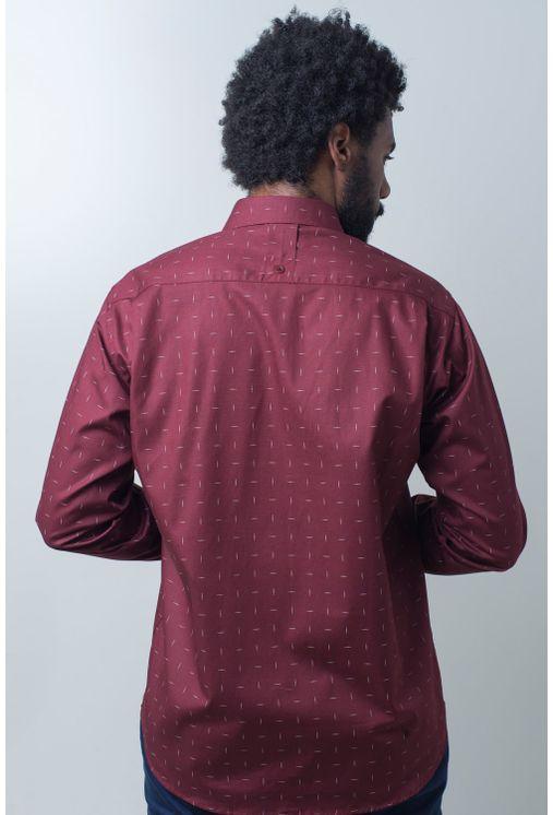 Camisa-casual-masculina-tradicional-algodao-fio-40-bordo-f01863a-verso