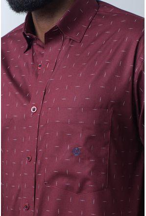 Camisa-casual-masculina-tradicional-algodao-fio-40-bordo-f01863a-detalhe1