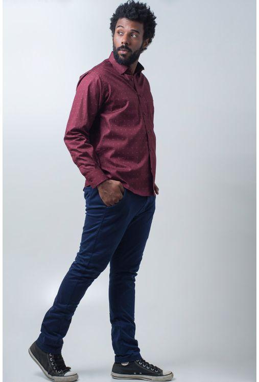 Camisa-casual-masculina-tradicional-algodao-fio-40-bordo-f01863a-detalhe2