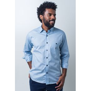 Camisa-casual-masculina-tradicional-algodao-fio-40-azul-claro-f01867a-frente