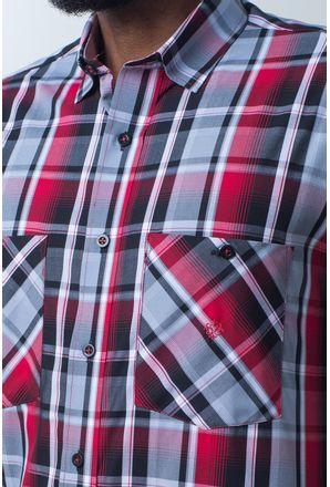 Camisa-casual-masculina-tradicional-algodao-fio-50-vermelho-e01855a-detalhe1