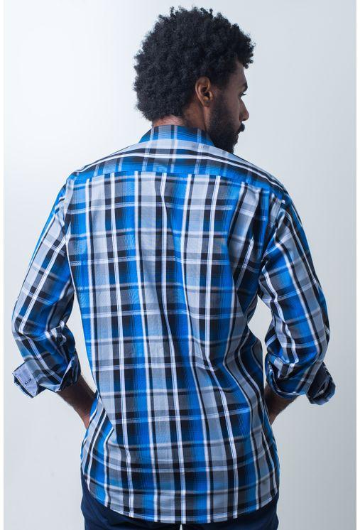 Camisa-casual-masculina-tradicional-algodao-fio-50-azul-e01855a-verso