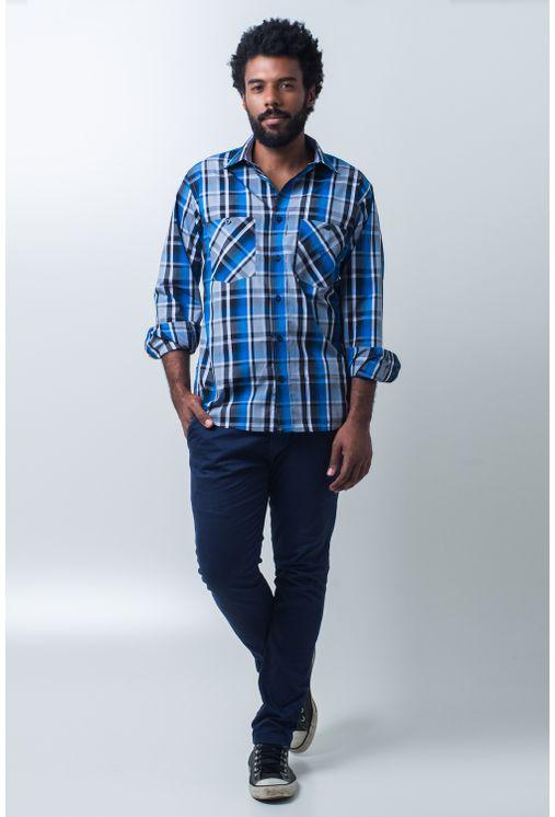 Camisa-casual-masculina-tradicional-algodao-fio-50-azul-e01855a-detalhe2