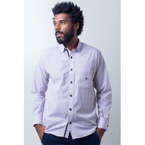 Camisa-casual-masculina-tradicional-algodao-fio-50-vermelho-f01384a-frente