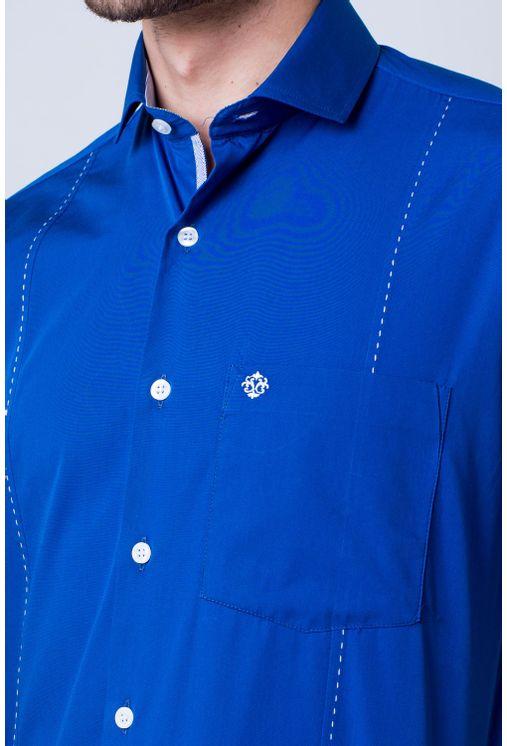 Camisa-casual-masculina-tradicional-algod-o-fio-60-azul-f01145a-frente