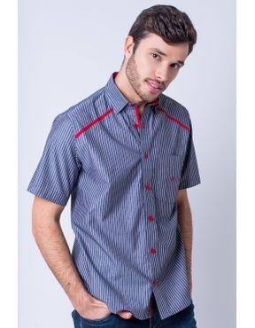 ad1541ee7f Camisaria Fascynios Oficial · Camisa Casual Masculina · Algodão Fio 50. Camisa  casual masculina tradicional algodão fio 50 vermelho f01196a 01 ...