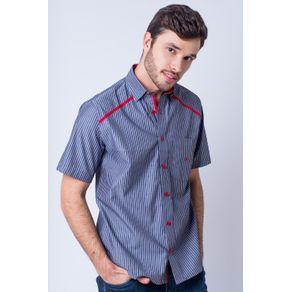 Camisa-casual-masculina-tradicional-algod-o-fio-50-vermelho-f01196a-frente