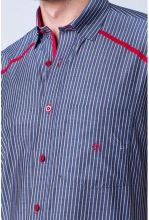 Camisa-casual-masculina-tradicional-algod-o-fio-50-vermelho-f01196a-detalhe1