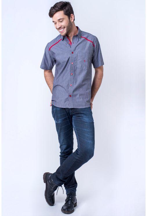 Camisa-casual-masculina-tradicional-algod-o-fio-50-vermelho-f01196a-detalhe2