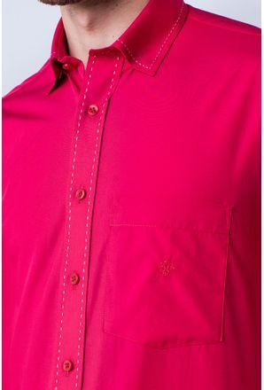 Camisa-casual-masculina-tradicional-algod-o-fio-60-vermelho-f01272a-detalhe1