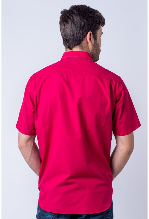 Camisa-casual-masculina-tradicional-algod-o-fio-60-vermelho-f01272a-verso
