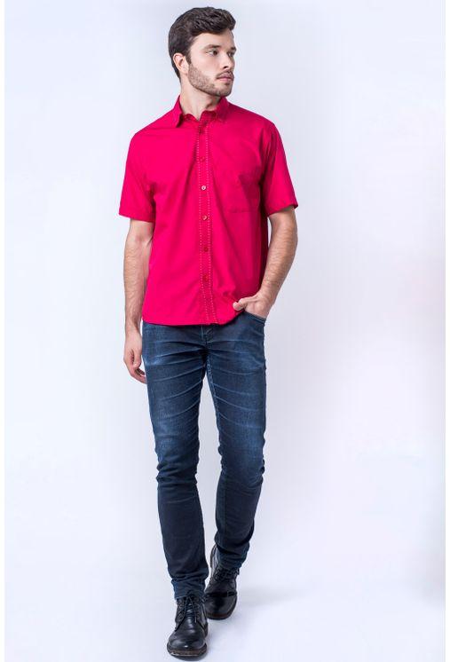 Camisa-casual-masculina-tradicional-algod-o-fio-60-vermelho-f01272a-detalhe2