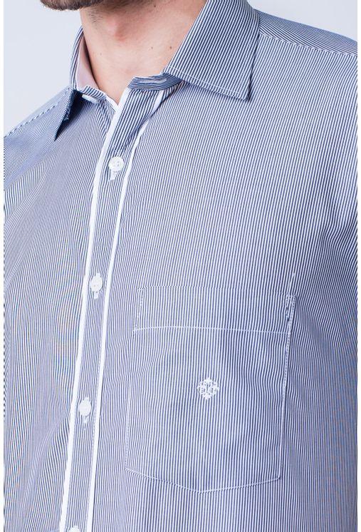 Camisa-casual-masculina-tradicional-algod-o-fio-60-preto-f01278a-frente