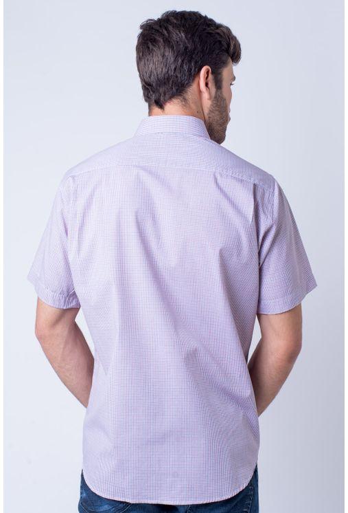Camisa-casual-masculina-tradicional-algod-o-fio-50-vermelho-f01385a-verso