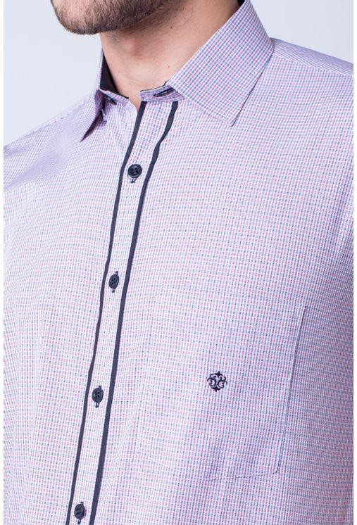 Camisa-casual-masculina-tradicional-algod-o-fio-50-vermelho-f01385a-detalhe1