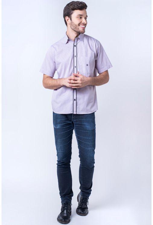 Camisa-casual-masculina-tradicional-algod-o-fio-50-vermelho-f01385a-detalhe2