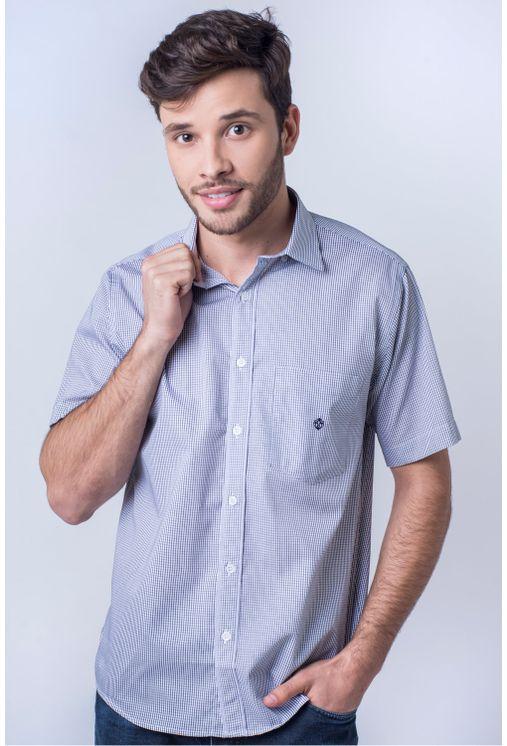 Camisa-casual-masculina-tradicional-algod-o-fio-60-cinza-f01453a-frente