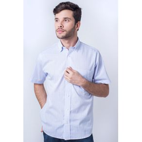 Camisa-casual-masculina-tradicional-algod-o-fio-40-azul-claro-f05529a-frente