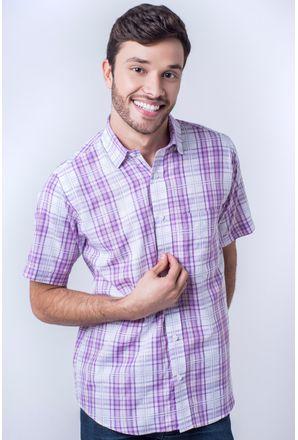 Camisa-casual-masculina-tradicional-algod-o-fio-40-rosa-f05541a-frente