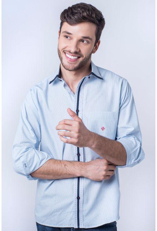 Camisa-casual-masculina-tradicional-algod-o-fio-50-azul-claro-f01176a-frente