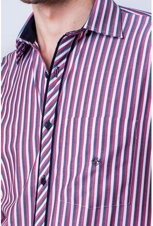 Camisa-casual-masculina-tradicional-algod-o-fio-50-vermelho-f01396a-detalhe1