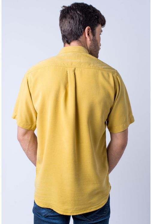 Camisa-casual-masculina-tradicional-tencel-mostarda-f06020a-verso