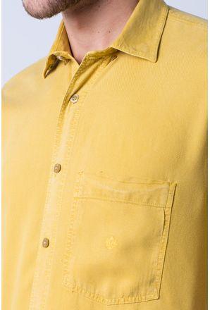 Camisa-casual-masculina-tradicional-tencel-mostarda-f06020a-detalhe1