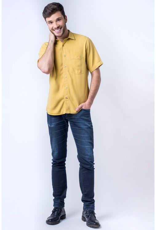 Camisa-casual-masculina-tradicional-tencel-mostarda-f06020a-detalhe2