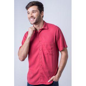 Camisa-casual-masculina-tradicional-tencel-vermelho-f06020a-frente