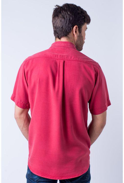 Camisa-casual-masculina-tradicional-tencel-vermelho-f06020a-verso