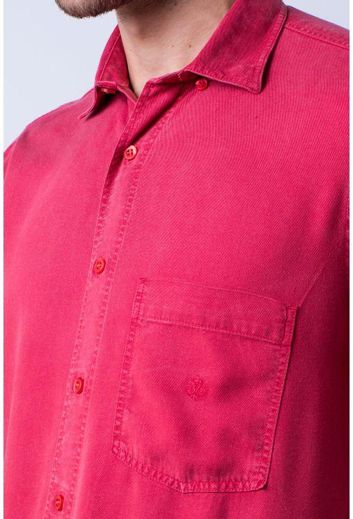 Camisa-casual-masculina-tradicional-tencel-vermelho-f06020a-detalhe1