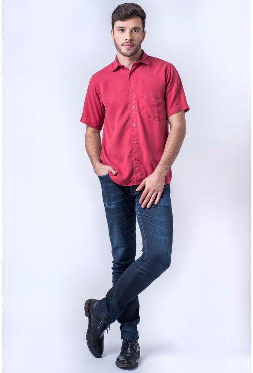 Camisa-casual-masculina-tradicional-tencel-vermelho-f06020a-detalhe2
