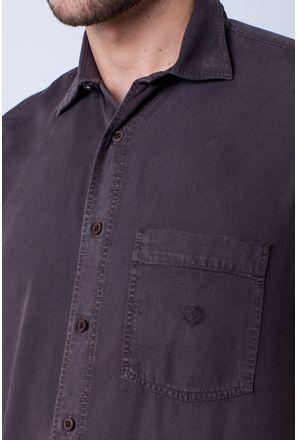 Camisa-casual-masculina-tradicional-tencel-marrom-f06020a-detalhe1