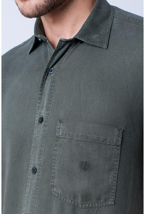 Camisa-casual-masculina-tradicional-tencel-verde-escuro-f06020a-verso