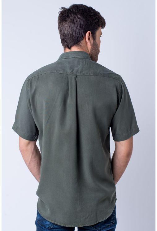 Camisa-casual-masculina-tradicional-tencel-verde-escuro-f06020a-detalhe1