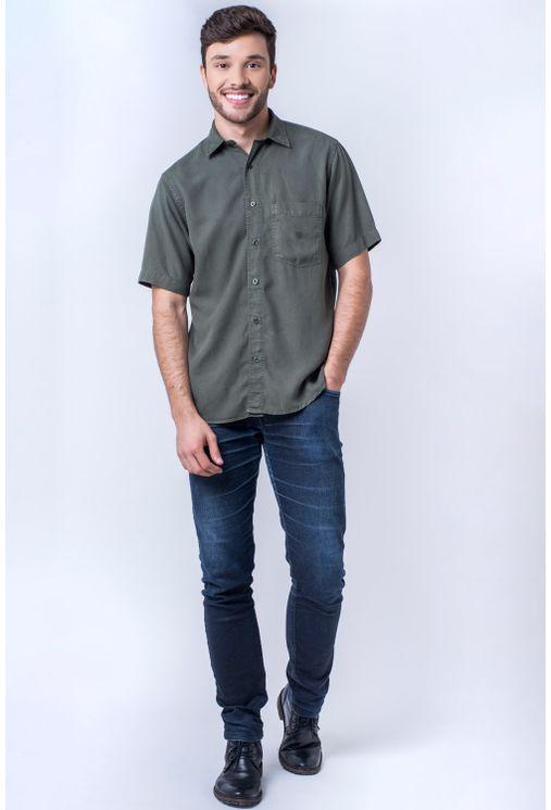Camisa-casual-masculina-tradicional-tencel-verde-escuro-f06020a-detalhe2