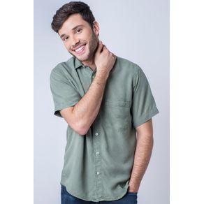 Camisa-casual-masculina-tradicional-tencel-verde-claro-f06020a-frente