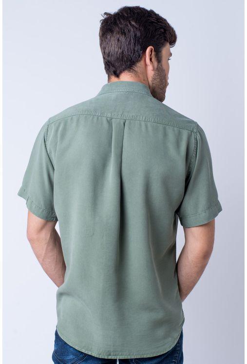 Camisa-casual-masculina-tradicional-tencel-verde-claro-f06020a-verso