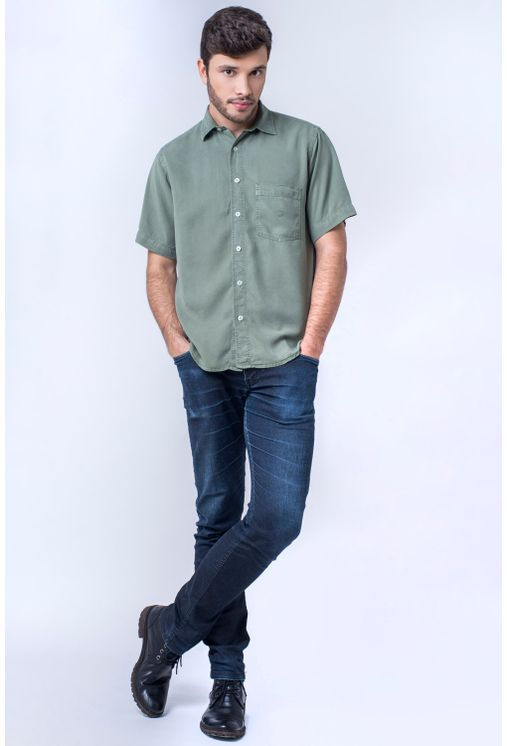 Camisa-casual-masculina-tradicional-tencel-verde-claro-f06020a-detalhe2