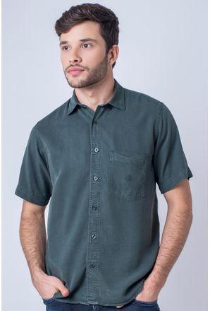 Camisa-casual-masculina-tradicional-tencel-verde-f06020a-frente