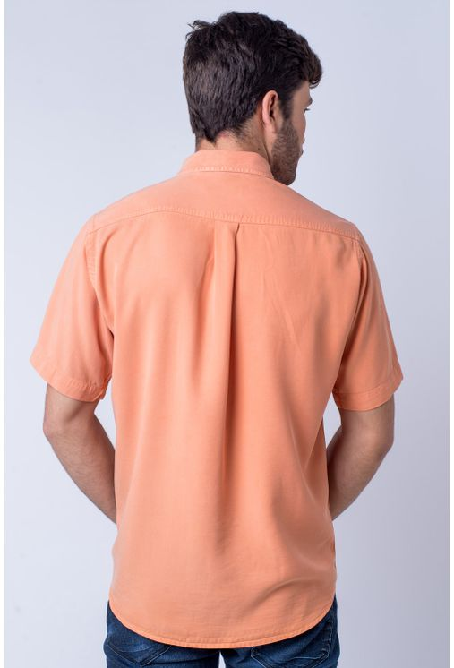Camisa-casual-masculina-tradicional-tencel-laranja-f06020a-frente