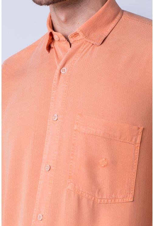 Camisa-casual-masculina-tradicional-tencel-laranja-f06020a-detalhe1