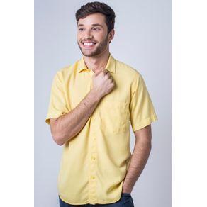 Camisa-casual-masculina-tradicional-tencel-amarelo-f06020a-frente