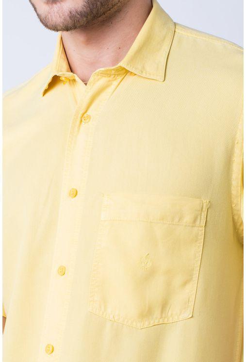 Camisa-casual-masculina-tradicional-tencel-amarelo-f06020a-detalhe1