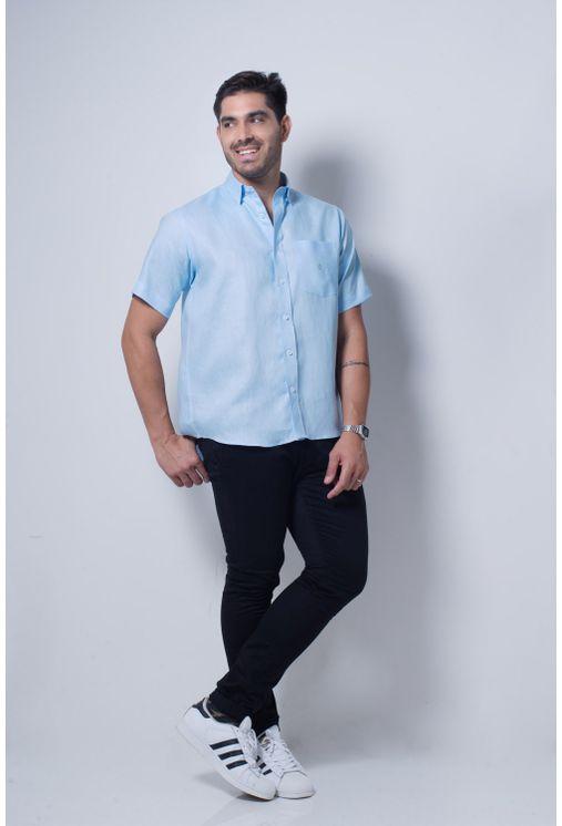 Camisa-casual-masculina-tradicional-cambraia-de-linho-azul-claro-f03943a-detalhe2