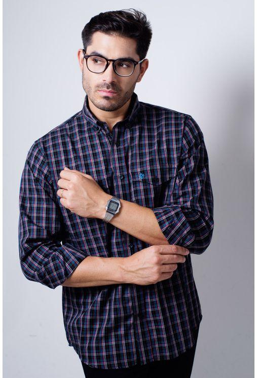 Camisa-casual-masculina-tradicional-flanela-grafite-f01836a-frente