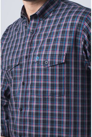 Camisa-casual-masculina-tradicional-flanela-grafite-f01836a-detalhe1