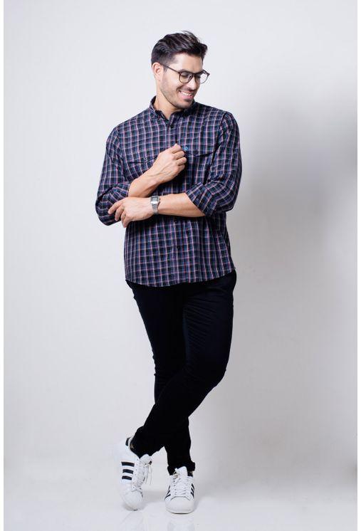 Camisa-casual-masculina-tradicional-flanela-grafite-f01836a-detalhe2