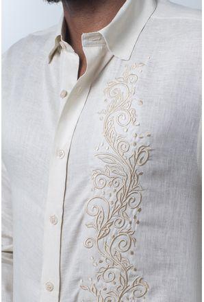 Camisa-casual-masculina-slim-cambraia-de-linho-bege-f01917s-detalhe1