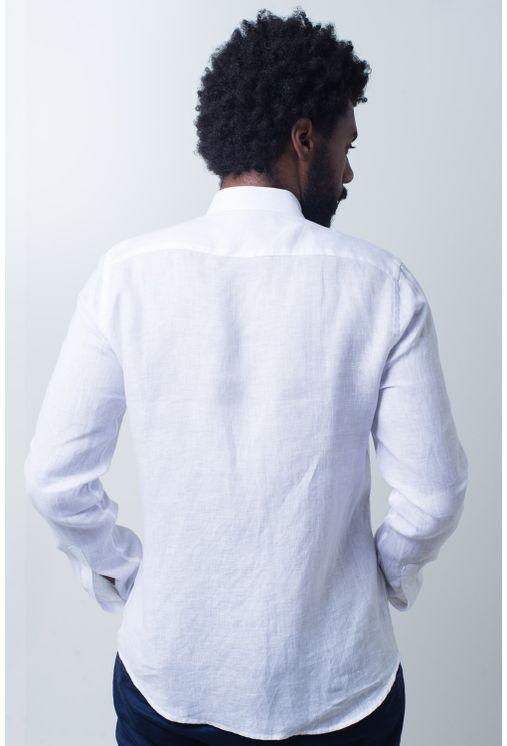 Camisa-casual-masculina-slim-cambraia-de-linho-branco-f01917s-verso